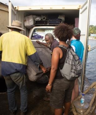 bridging health container unloading tanna
