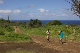 To get to the hospital involves a walk up a steep, rough hill.