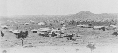 Elevated view of the small North Queensland town of Kuridala ca. 1921