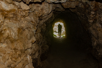 The opening to a 100 metres tunnel where gold was once mined.