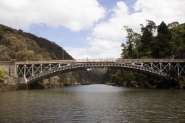 Kings Bridge, as you enter Cataract Gorge, Launceston. I've driven and ridden over this one.