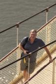 The Alexander suspension bridge in Cataract Gorge,